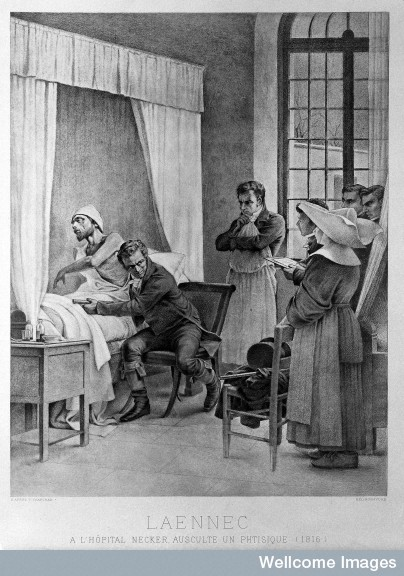 L0007797 Laennec and the use of the stethoscope at the Hospital Necker