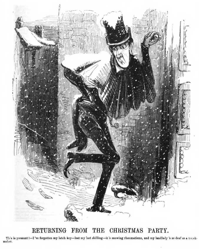 Punch, Returning from the Christmas Party, 1842