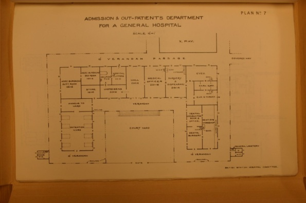 Mss Eur D712/4 Volume of layout plans for typical hospitals and units thereof made for British Station Hospitals Committee (c1917-19)