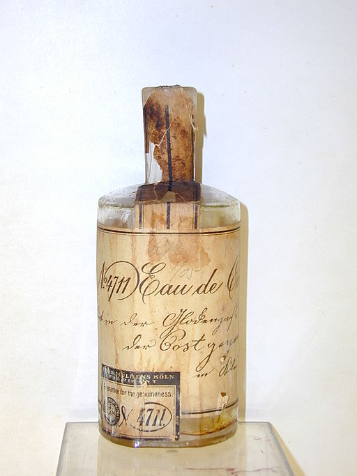 A 19th-century bottle of 4711 Eau de Cologne. Image: Farina Archiv.