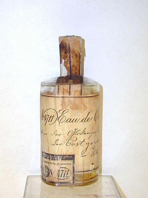 A 19th-century bottle of 4711 Eau de Cologne. Image: Farina Archiv.