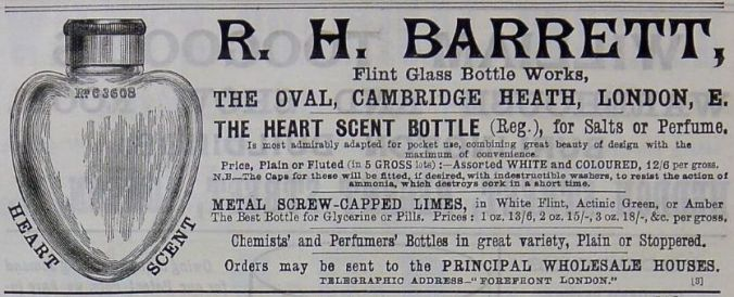 Advert for a scent bottle from Chemist and Druggist, February 1890.